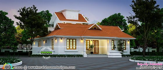 Beautiful 3 BHK Traditional Kerala home design