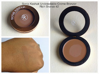 Soniak Kashuk Undetectable Cremem Bronzer Rich Bronze 42 swatched on dark skin