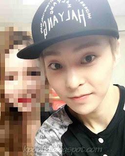 Photo selfie Xiumin EXO-M dengan Cewek