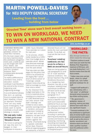 Martin's leaflet on workload