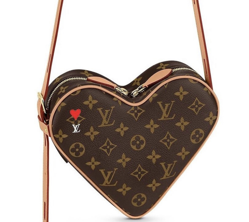 Louis Vuitton Cruise 2021 Heart Handbag Monogram Canvas