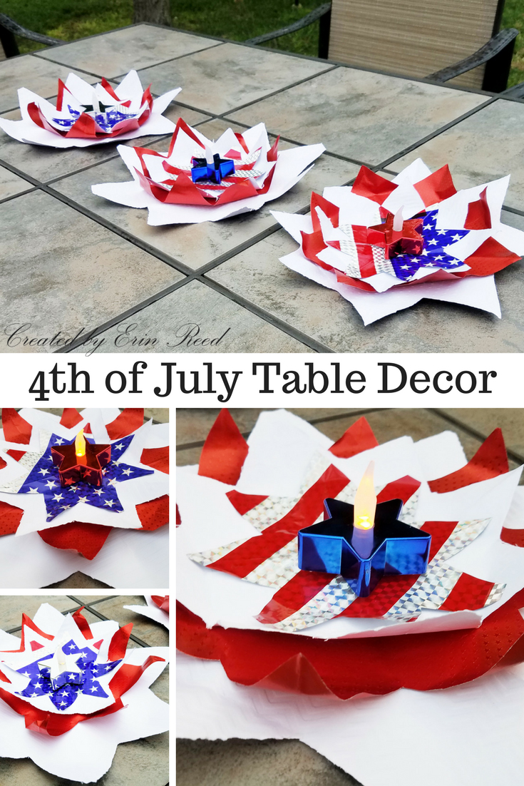 Scraps of reflection easy 4th of july outdoor party decor for 4 of july decorations