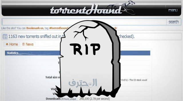 TorrentHound  ينضم إلى قائمة مواقع التورنت المغلوقة !