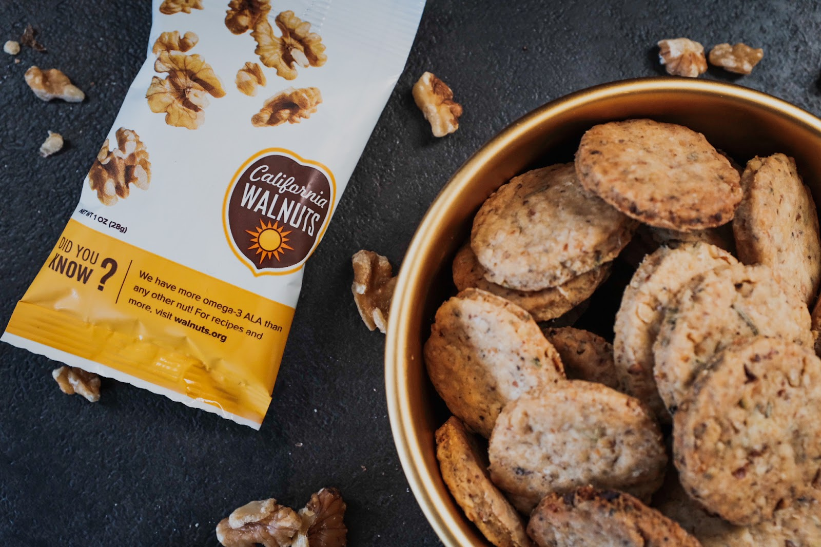 Rosemary Walnut Crackers featuring California Walnuts | Local Food Rocks