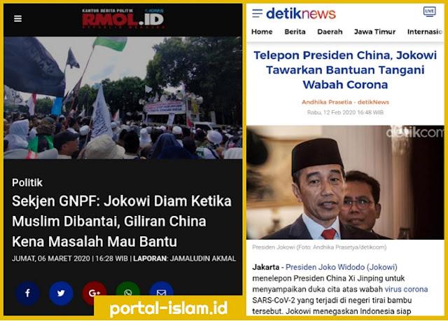 Sekjen GNPF: Jokowi Diam Ketika Muslim Dibantai, Giliran China Kena Masalah Mau Bantu