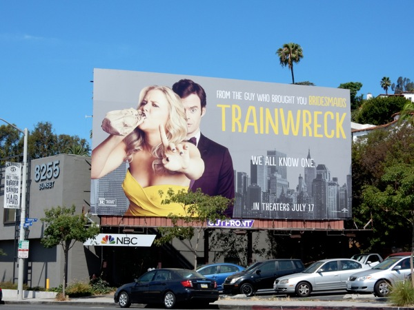 Trainwreck movie billboard