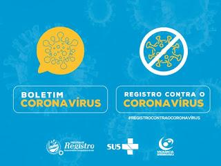 Boletim Coronavírus: 17 casos suspeitos em Registro-SP