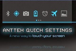 AntTek Quick Setting untuk mengunah tampilan status bar toogle icon