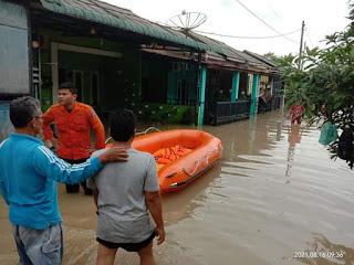 Hujan Semalaman, Ratusan Rumah di Rantauprapat Terendam Banjir