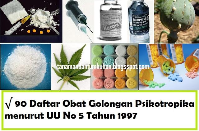 90 Daftar Obat Golongan Psikotropika