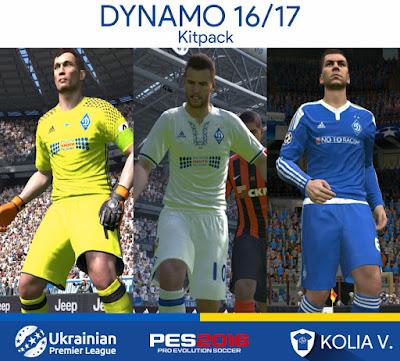 PES 2016 Dynamo Kyiv 16/17 Kitpack by Ramy