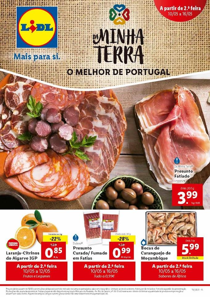 """Folheto LIDL """"Mais para Si - da Minha Terra, o Melhor de Portugal"""" com promoções de 10 a 16 de maio"""