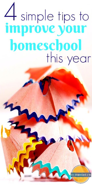 4 simple tips to improve your homeschool this year - great for homeschooling families in January