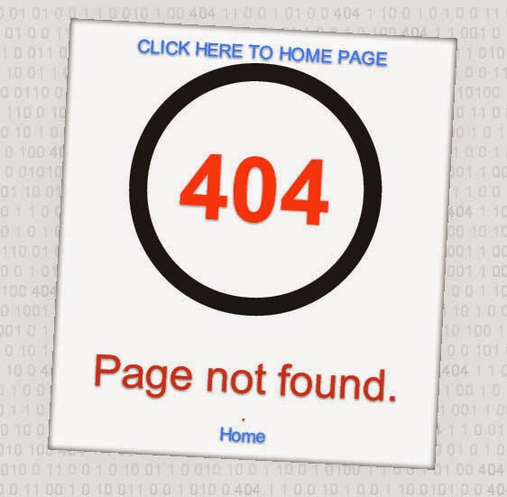 Custom page not found 404 error