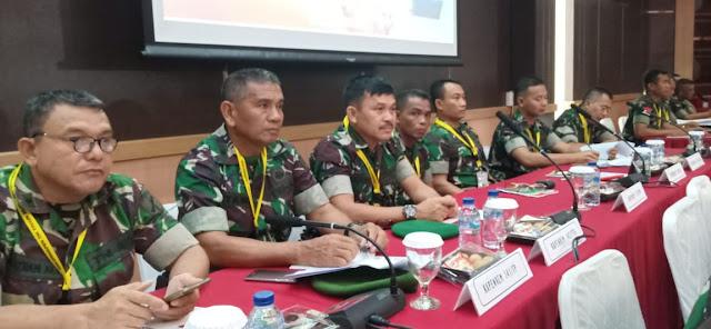 Kapenrem 141/Tp Ikuti Rakornis Penerangan di Mabes TNI, Ini Dibahas