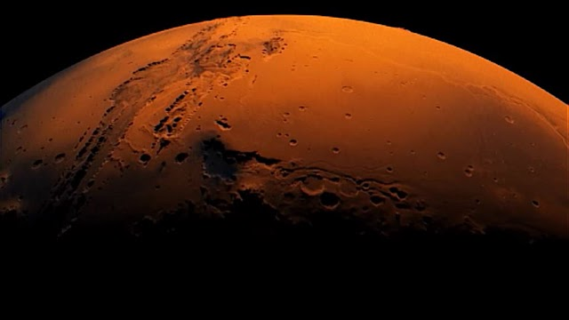 Em Marte foi descoberta um sistema de lagos com água no Polo Sul