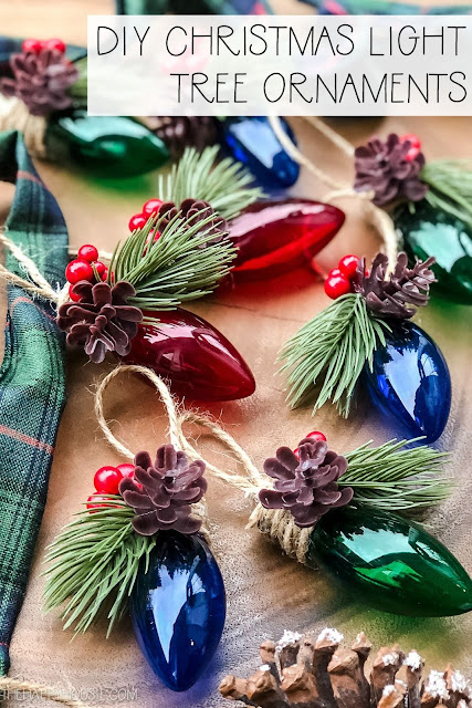 DIY Christmas Light Tree Ornaments