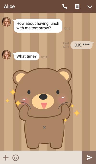 I'm Cute Bear Theme