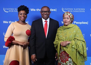 UN Award:Peter Obi Celebrates Chimamanda, Calls For Inclusion Of Works In School curricula