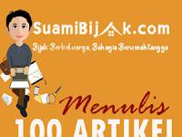 MENULIS 100 ARTIKEL DALAM SEBULAN, SULITKAH?