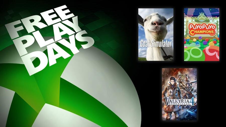 goat simulator puyo puyo champions valkyria chronicles 4 xbox live gold free play days event