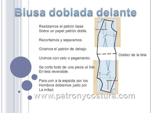 www.patronycostura.com/diy blusa cruzada delante.Tema 168