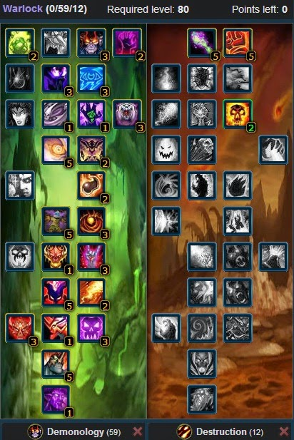 Wow Of Warcraft Talents And Glyphs Pve Demonology Warlock Talent Build Guide Glyphs Wow Wotlk 3 3 5