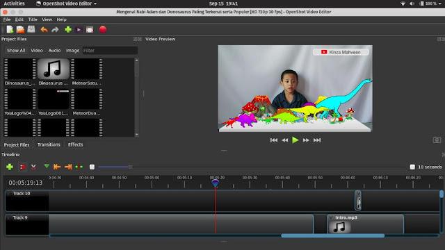 Open Shot Alternatif Adobe Premiere di Linux