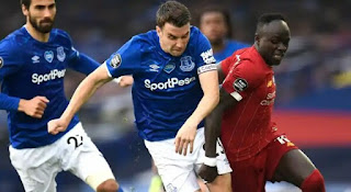 Jamie Carragher said that Everton should have taken all three points against Liverpool. It was a rather uninspiring return to Premier League action for Liverpool and Everton, who played out a goalless draw at an eerily-empty Goodison Park and put a dent in the visitors' title charge.