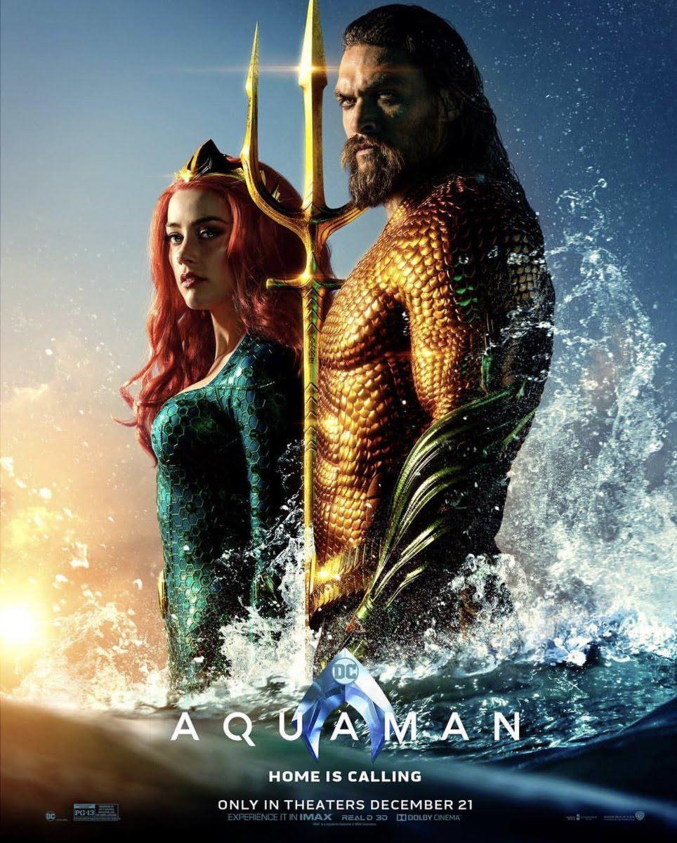 Aquaman : ジェイソン・モモア主演の海の王者のコミックヒーロー映画「アクアマン」の新しいポスター ! !