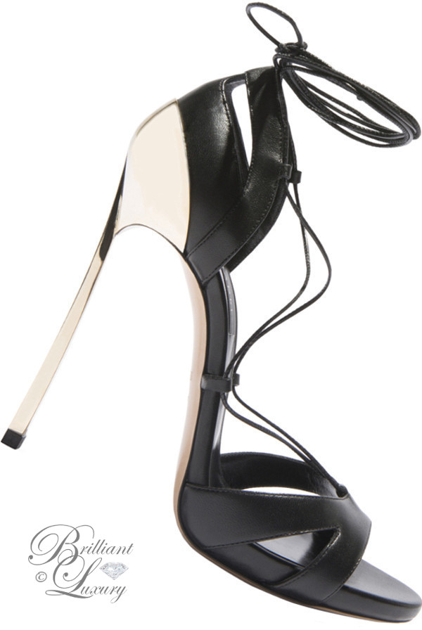 Brilliant Luxury ♦ Casadei Blade techno metallic sandals