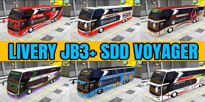 10 Livery MOD JB3+ SDD Voyager BUSSID CVT By Aldovadewa
