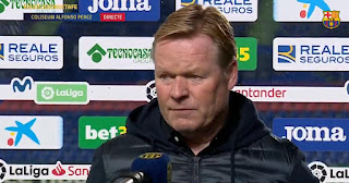 Var against Barcelona this season:  Koeman reveal he never knew Var was active in Getafe clash