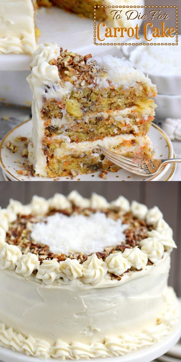 To-Die-For Carrot Cake #cakerecipes
