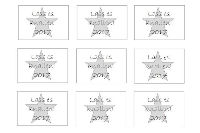 DIY, Basteln: Silvestergeschenk, Mitbringsel, Lass es knallen 2017 mit Free Printable in Geschenkidee und Wohndekoration - DIYCarinchen