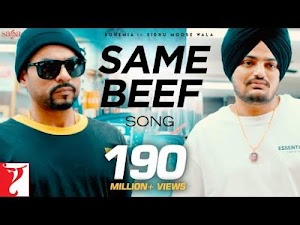 Same Beef Lyrics In Punjabi Sidhu Moose wala Ft Bohemai