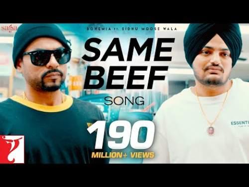 Same Beef Lyrics In Punjabi Sidhu Moose wala Ft Bohemai