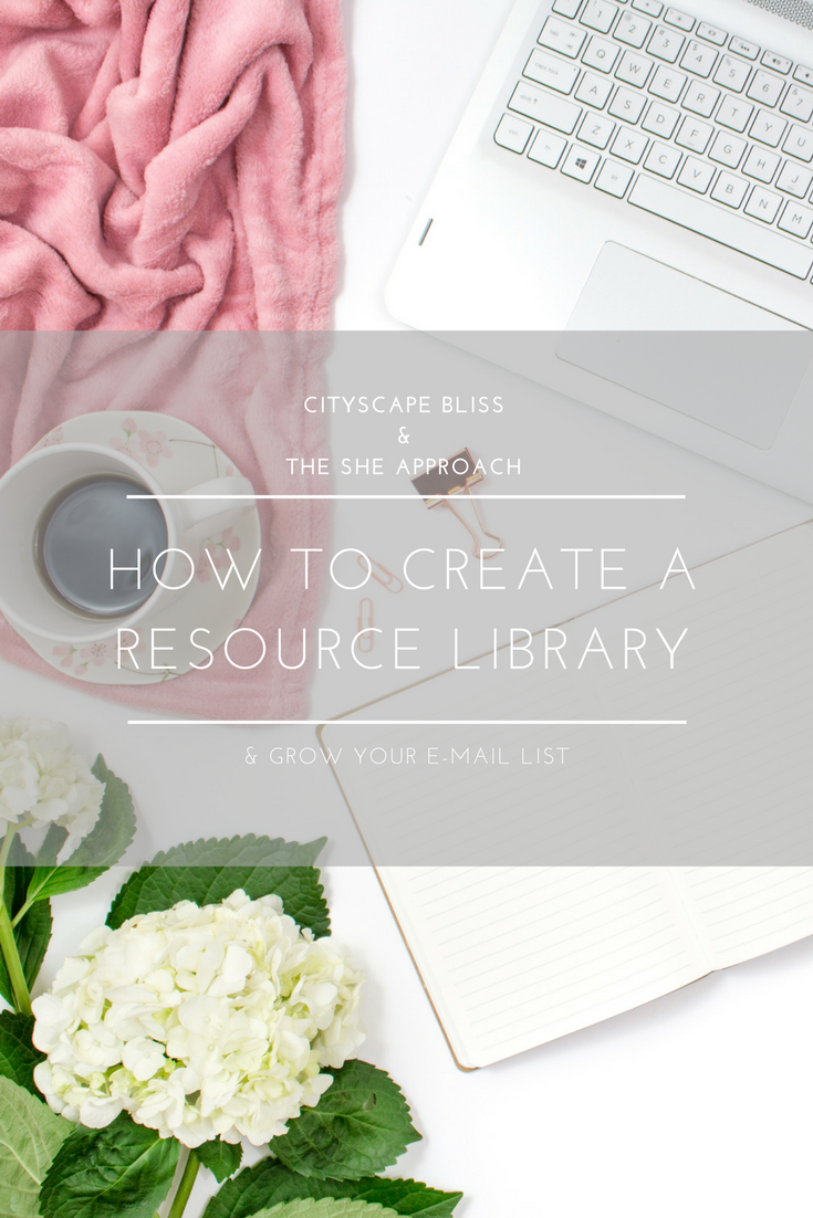 How to create a resource library and grow your e-mail list