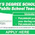 Master's Degree Scholarship for Public School Teachers (Apply Here) Academic Year 2021-2022