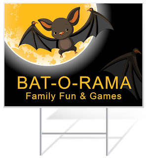 Bat-o-Rama Halloween Lawn Sign | Lawnsigns.com