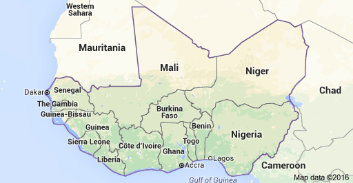 WEST AFRICA List Of Countries In West Africa Capitals And - Africa map with country names and capitals