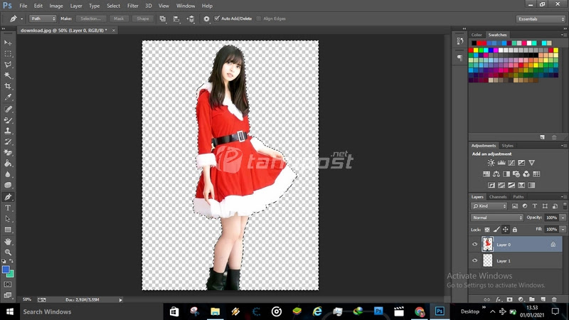 Cara Membuat Background Transparan di Photoshop