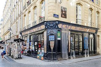 Paris : Ancien Café Biard de la rue Montorgueil, vestiges de l'une des premières chaînes de restauration parisiennes - IIème