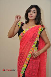Actress Vaibhavi Joshi Pictures in Red Saree at Guntur Talkies 2 Movie Opening  0057.JPG