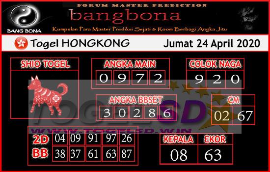 Prediksi HK 24 April 2020 - Bang Bona HK