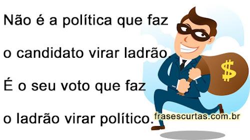 frases politico ladrão