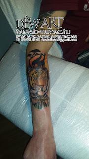 tigris tetoválás, tigris, tattoo, szavanna, savanah, zsiráf, tetoválás, tattoo 2017, alkar tetoválás, szeged, Nagyváti Dávid, Déw art, 2017