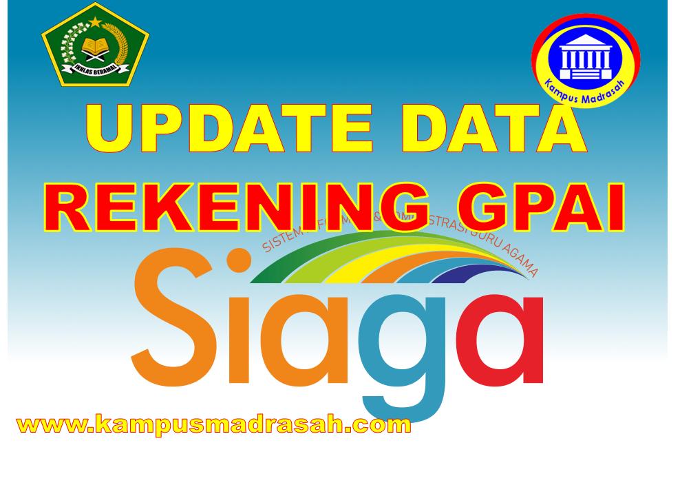 Update Data Rekening Guru PAI