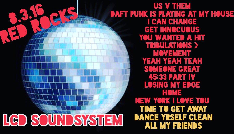 coventry music lcd soundsystem red rocks setlist 8 3 16 morrison