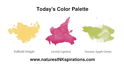 Today's Color Palette | Around the World on Wednesday Blog Hop | Nature's INKspirations by Angie McKenzie